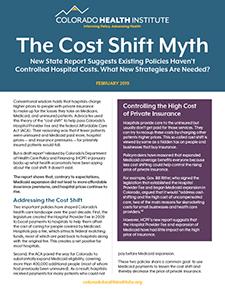 Cost Shift report