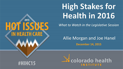 High Stakes for health in 2016
