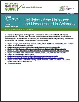 Regional Profiles of Uninsured and Underinsured