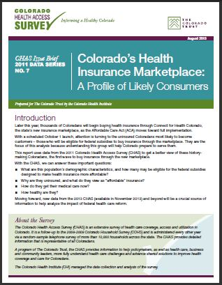 Colorado's Health Insurance Marketplace: A Profile of Likely Consumers